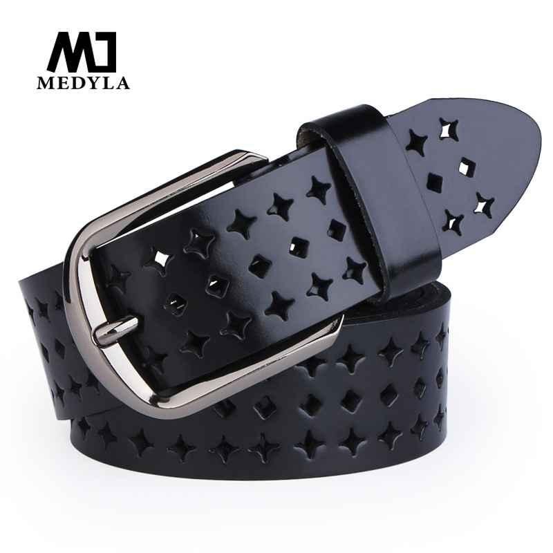 Medyla Woman Belts Hot Sale Hk Cutout Strap Female Genuine