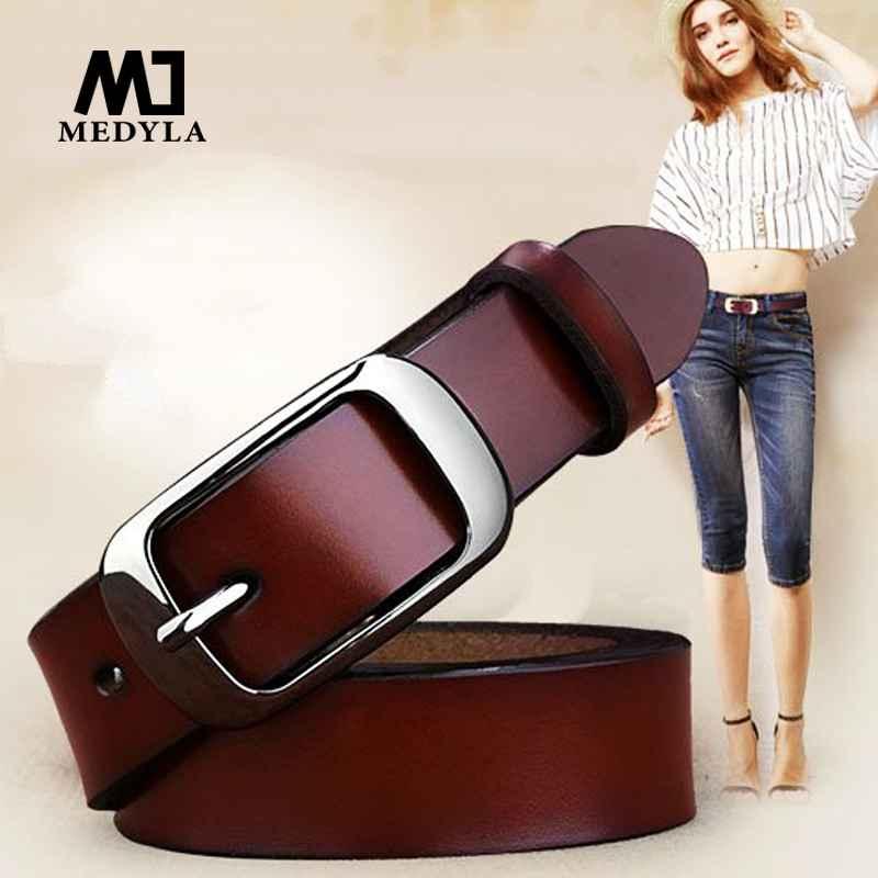 Medyla Female Belt Women Genuine Leather Fashion All-Match Belt Women s