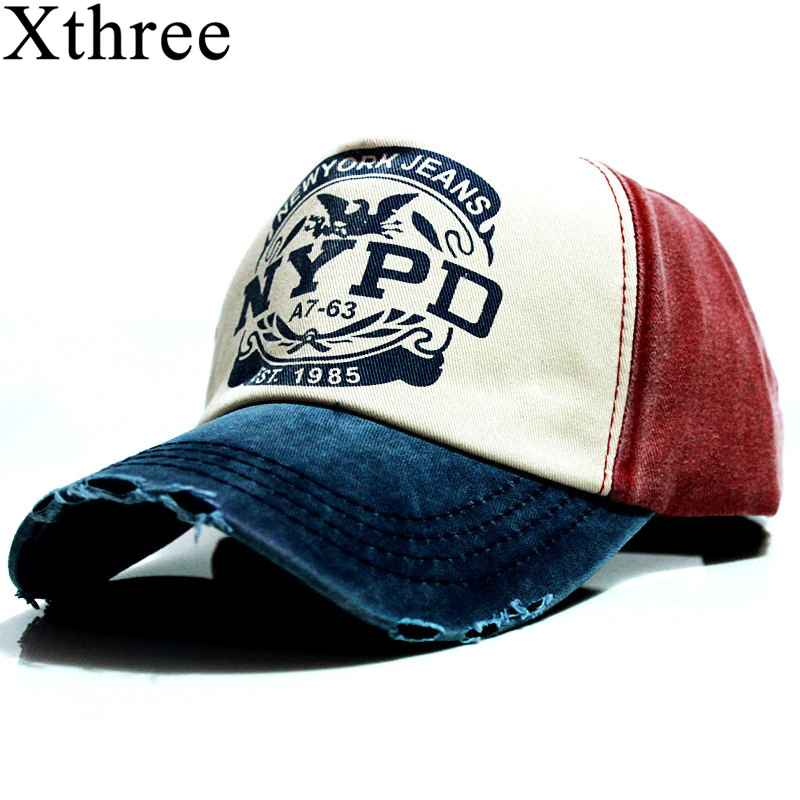 Xthree Wholsale Brand Cap Baseball Cap Fitted Hat Casual Cap
