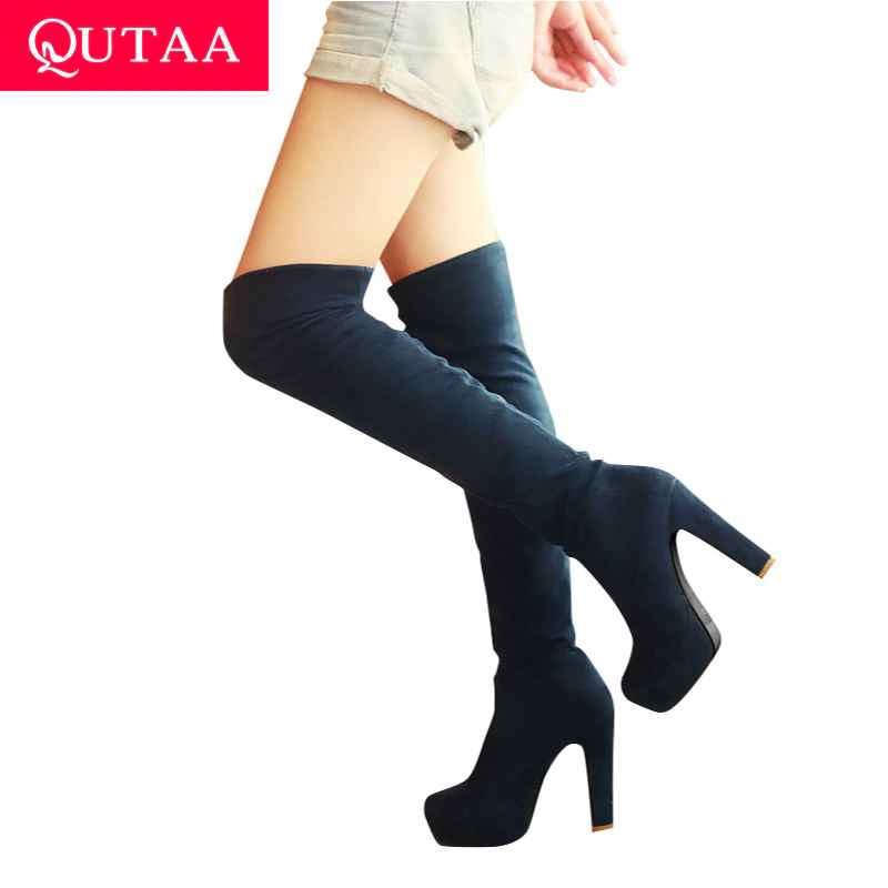 Qutaa 2020 New Women Boots Sexy Fashion Over The Knee