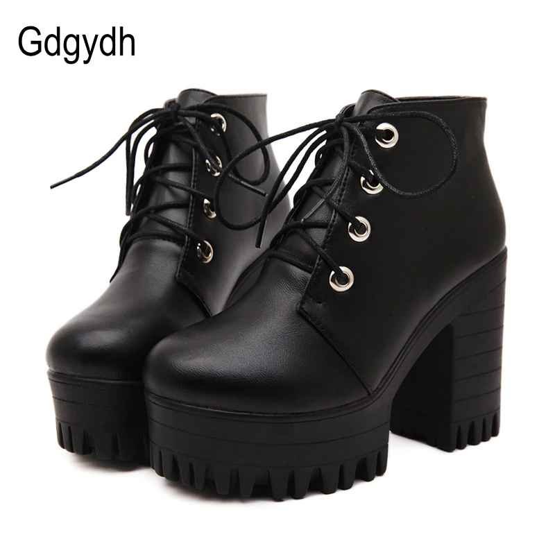 Gdgydh Brand Designers 2019 New Spring Autumn Women Shoes Black
