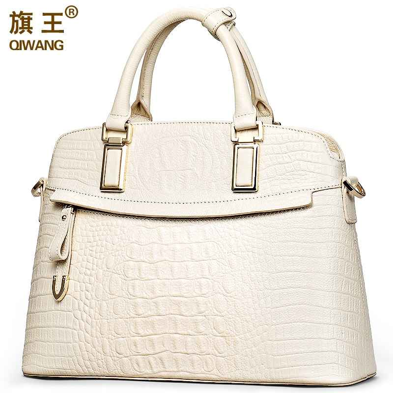 Qiwang Crocodile Ladies Hand Bags 2019 Elegant Top-Handle Bag Women