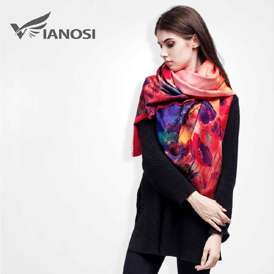 Brand Floral Scarf Women Bufandas Warm Cashmere Winter Shawls And