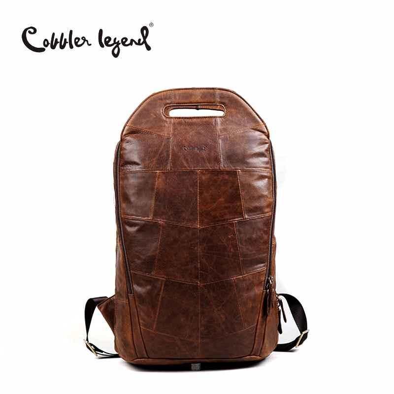 2019 Men Cowhide Genuine Leather Fashion Vintage Backpacks Large Capacity