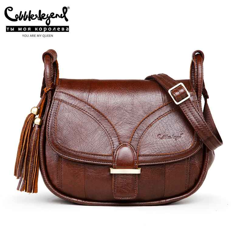 Brand Designer 2019 Women's Genuine Leather Vintage Single Shoulder Bag