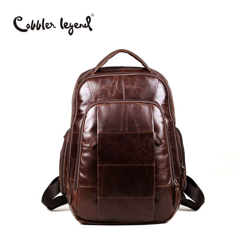 Brand 2019 Retro Style Back Pack Charming Genuine Leather Teenage