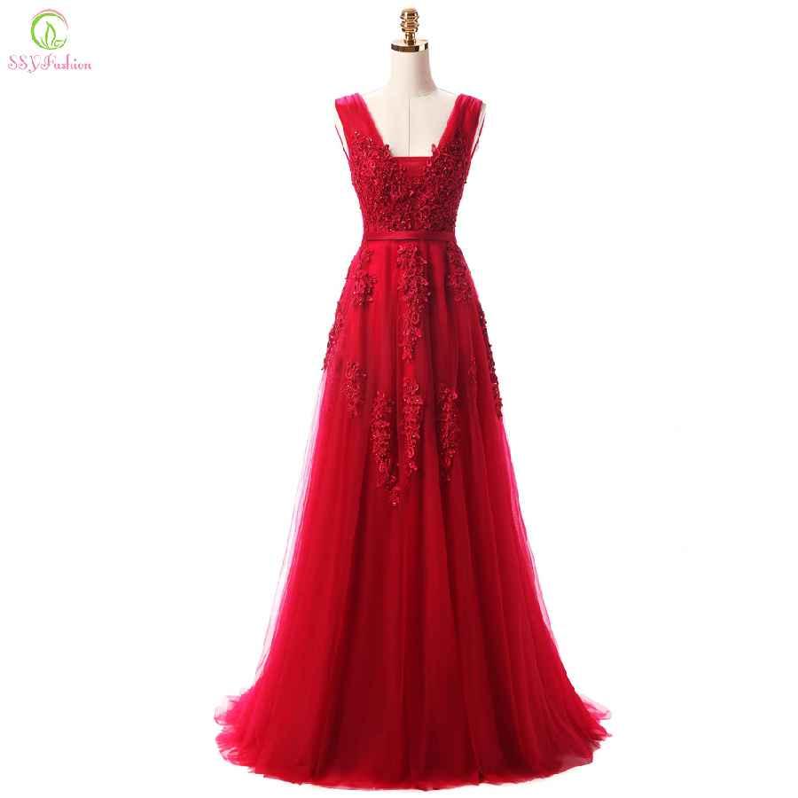 Robe De Soiree Lace Beading Backless Long Evening Dresses Bride