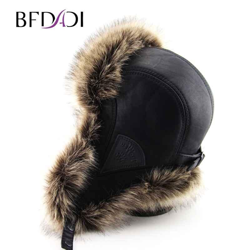 Bfdadi Hot Sale Faux Fur Ear Flaps Cap Trapper Snow