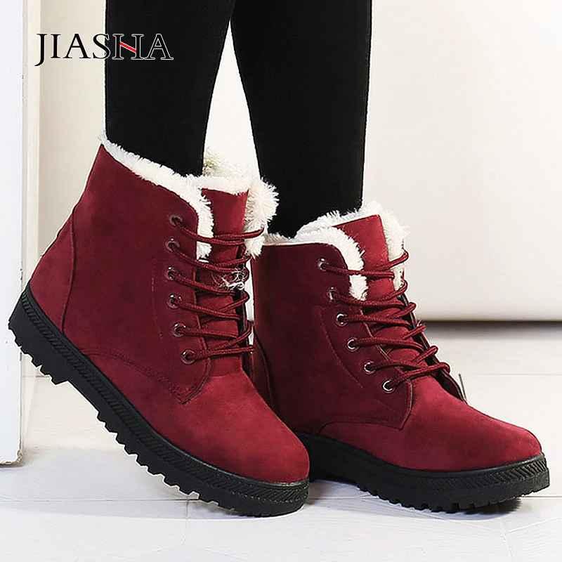 Winter Boots Women Shoes 2019 Heels Snow Boots Women Lace