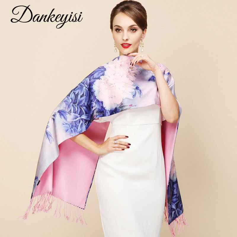 Dankeyisi 2018 Fashion Designer Ladies Big Scarf Women Brand Wraps