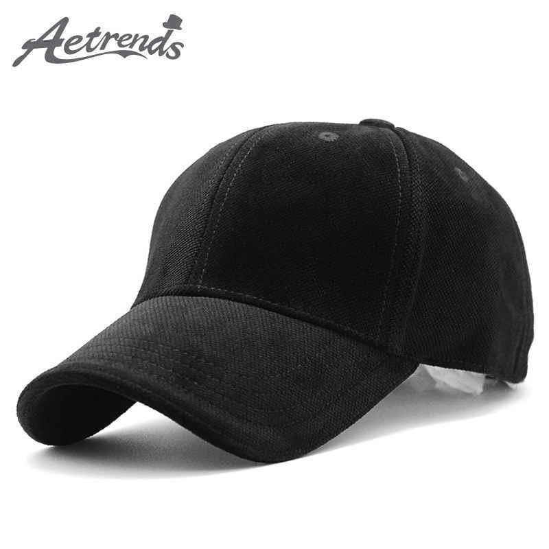 Aetrends Luxury Brand Cotton Velvet Baseball Caps For Men Women