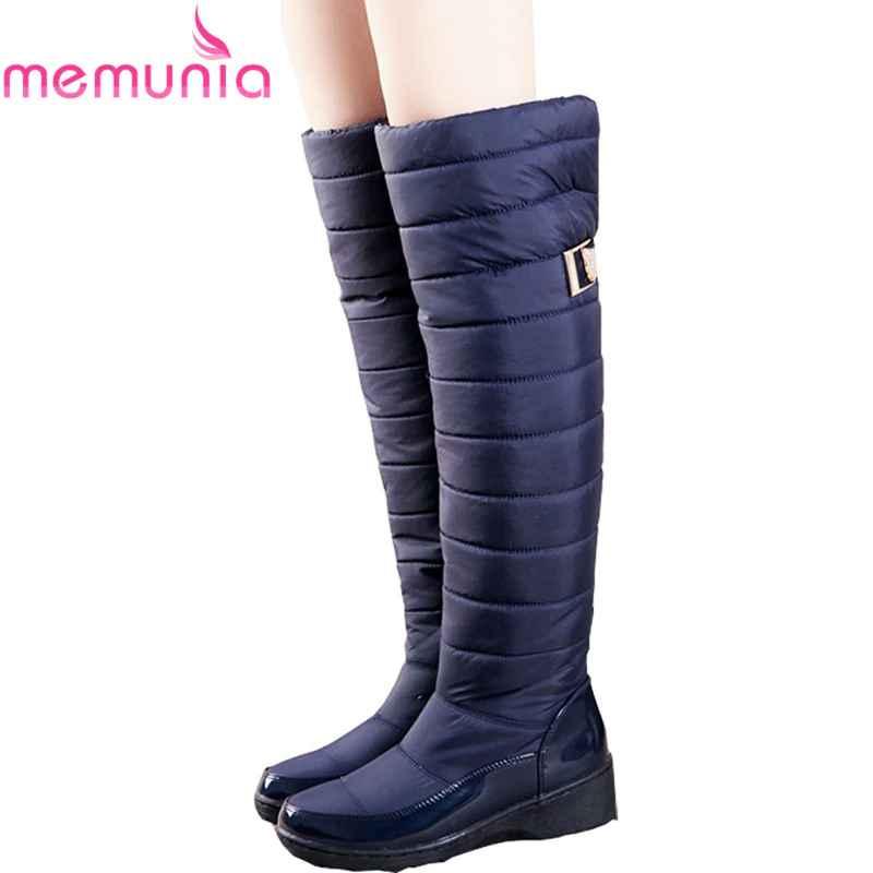 Memunia Russia Winter Boots Women Warm Knee High Boots Round