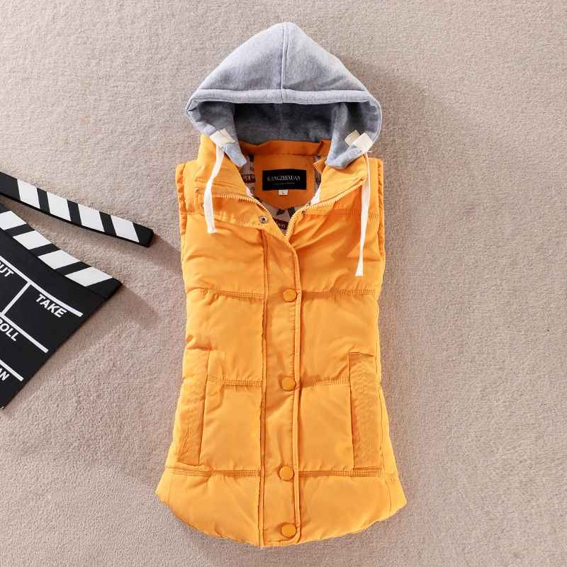 Plus Size 6xl Women Vest Winter Coat Ladies Gilet Colete