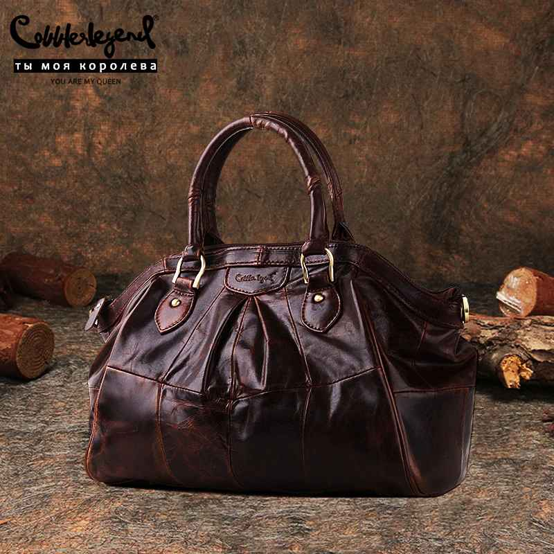 Brand Women's Ladies Genuine Leather Handbag Shoulder Genuine Leather 2019