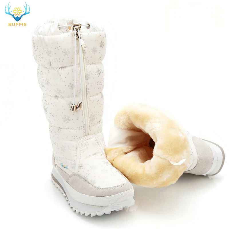 2019 Winter Boots High Women Snow Boots Plush Warm Shoes