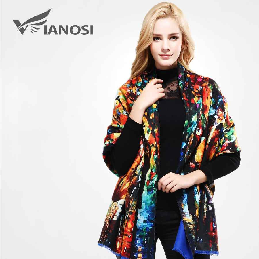 Women Scarf Wool Shawl Fashion Thicken Warm Wrap Printing Scarves