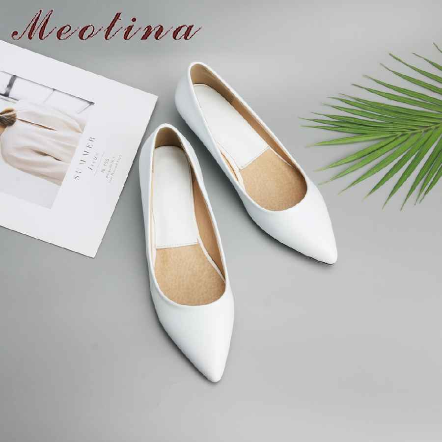 Meotina Spring Women Shoes 2019 Comfort Casual Shoes Pumps Low