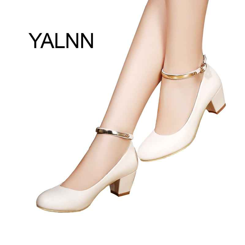 Yalnn Womens 5cm High Heels Pumps Office Lady Women Shoes