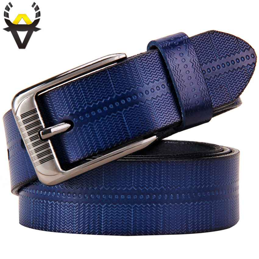 Genuine Leather Belts For Women Fashion Pin Buckle Woman Belt