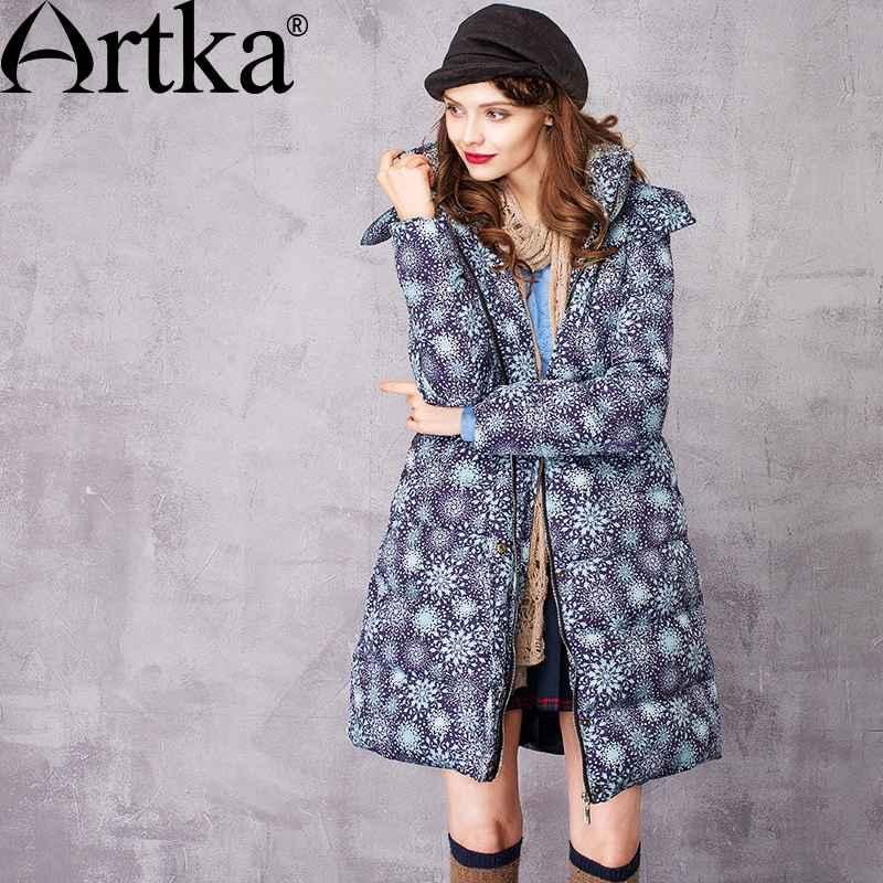 Artka Female Parka Winter Women s Down Coat 2018 Long Warm