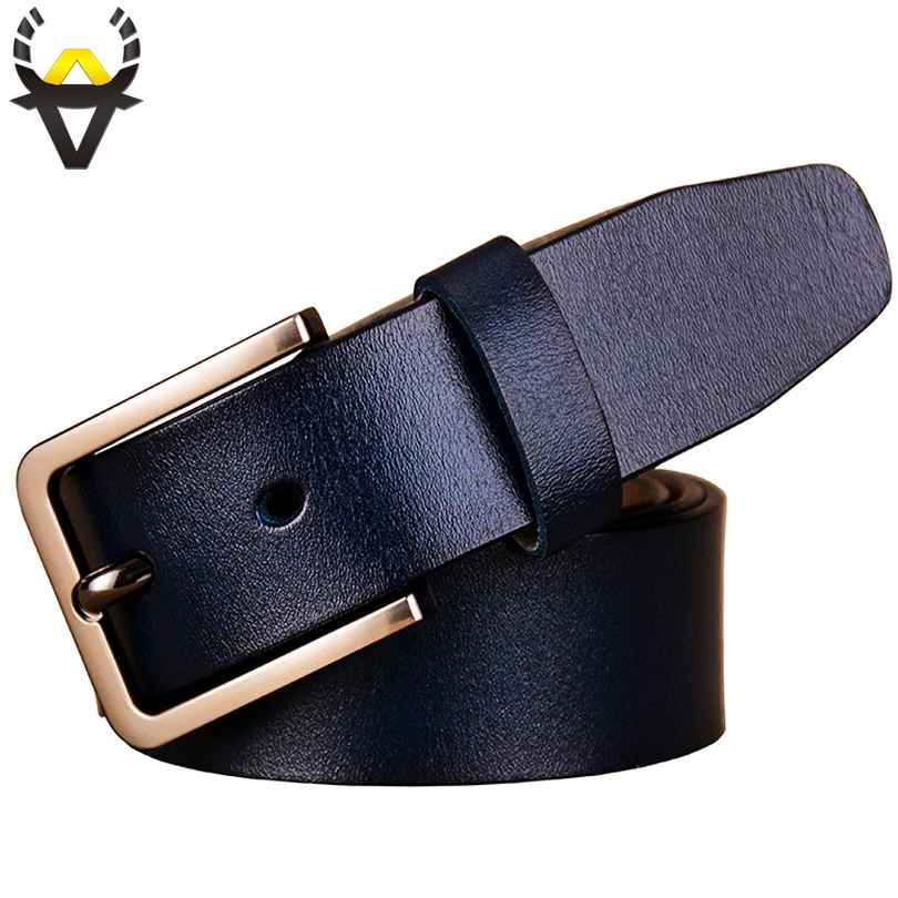 Fashion Genuine Leather Belts For Women Luxury Designer Pin Buckle