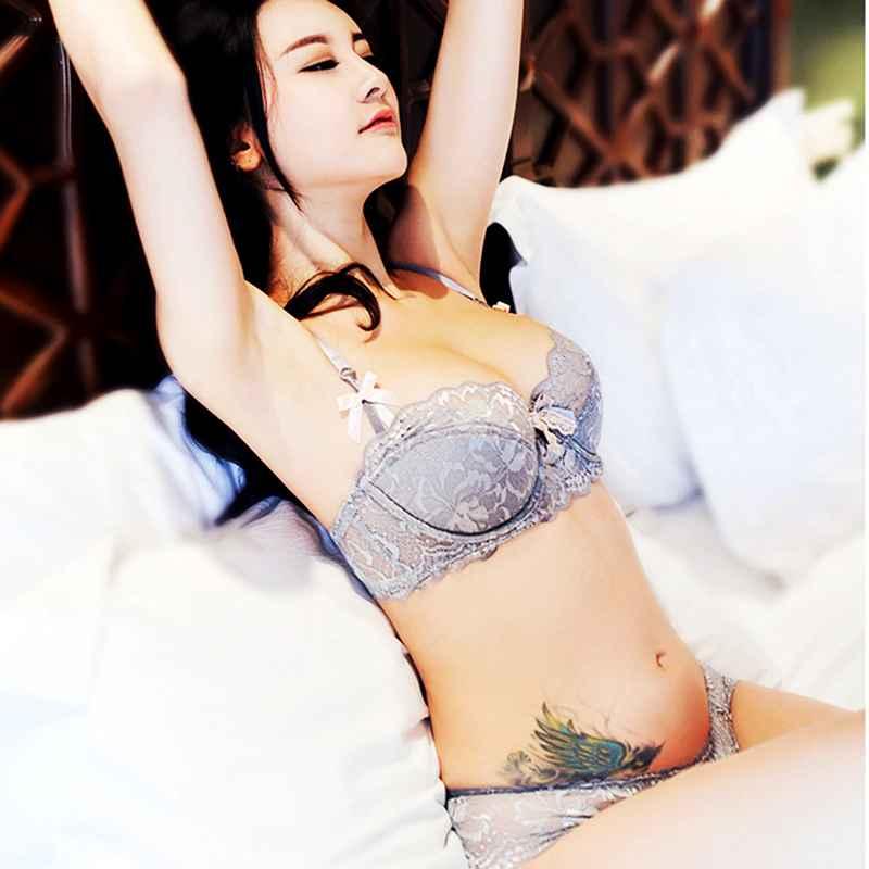 Fashion Lace Sexy Bra Sets Thin Cotton Women Underwear Set