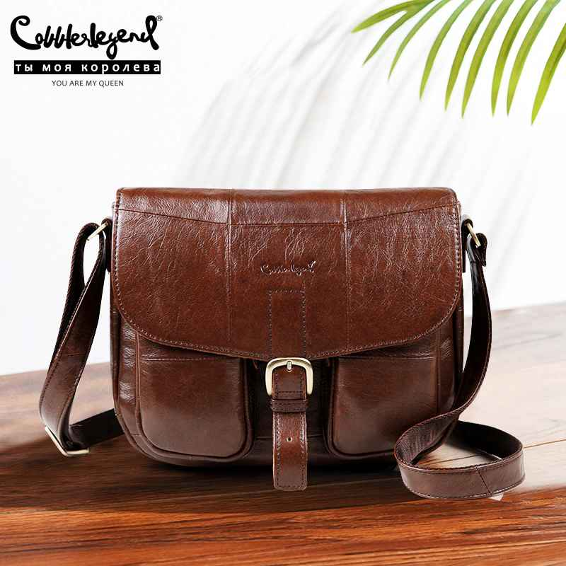 Brand Genuine Leather 2019 Women Shoulder Bag Casual Style Crossbody
