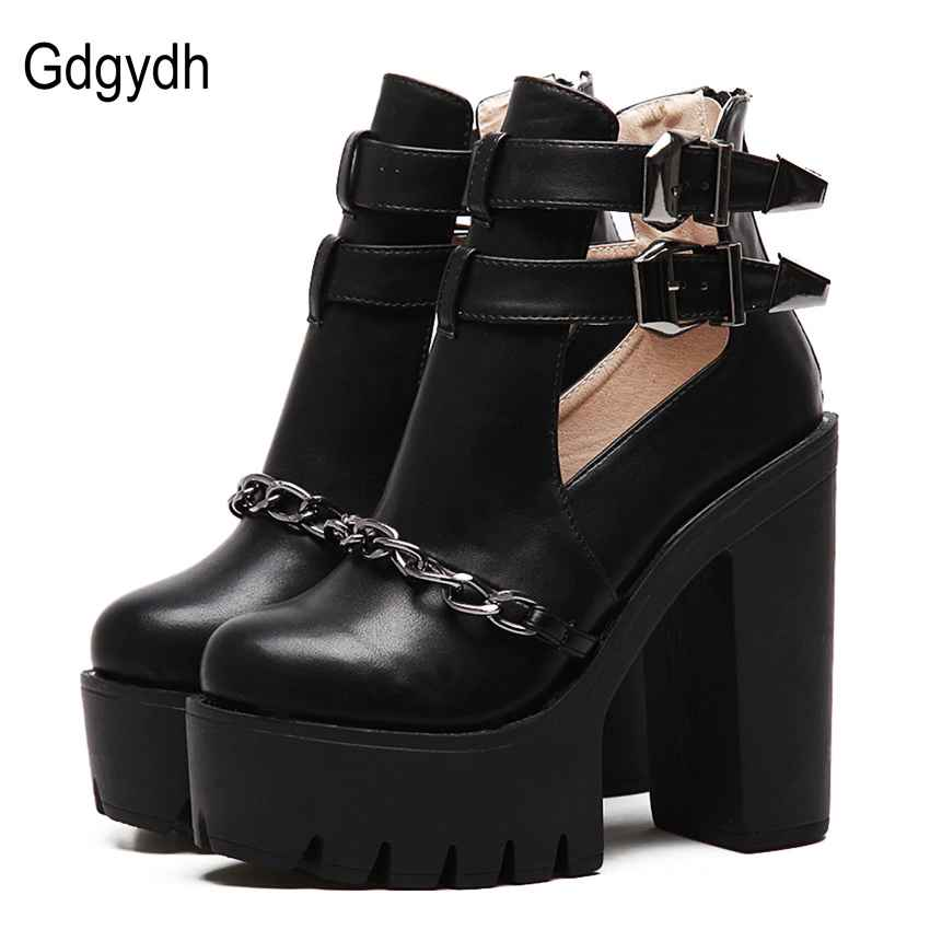 Gdgydh Spring Autumn Fashion Ankle Boots For Women High Heels