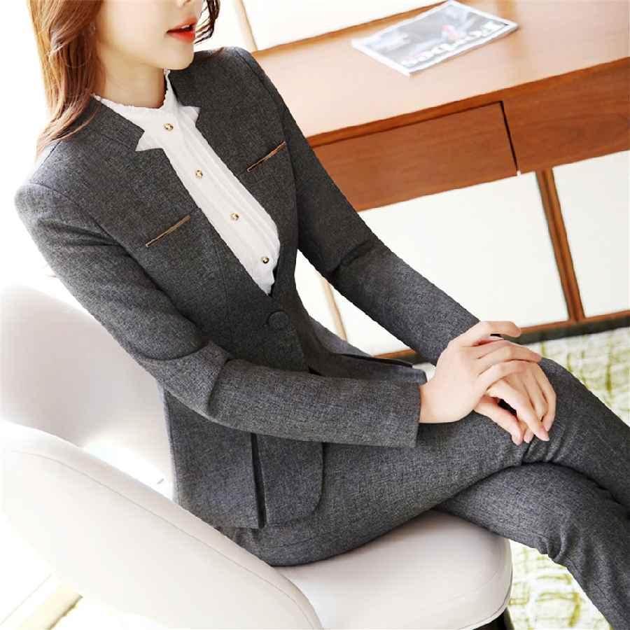 Blazers womens formal suits workwear office uniform designs women office