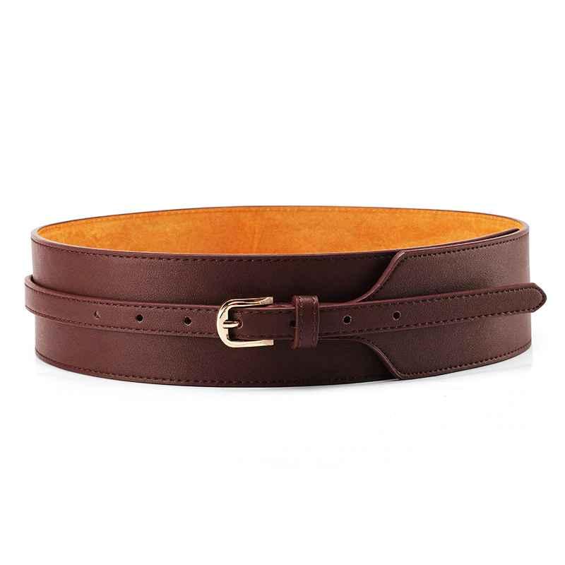 Women Dress Belt Fashion Coat Leather Belt For Women Pin