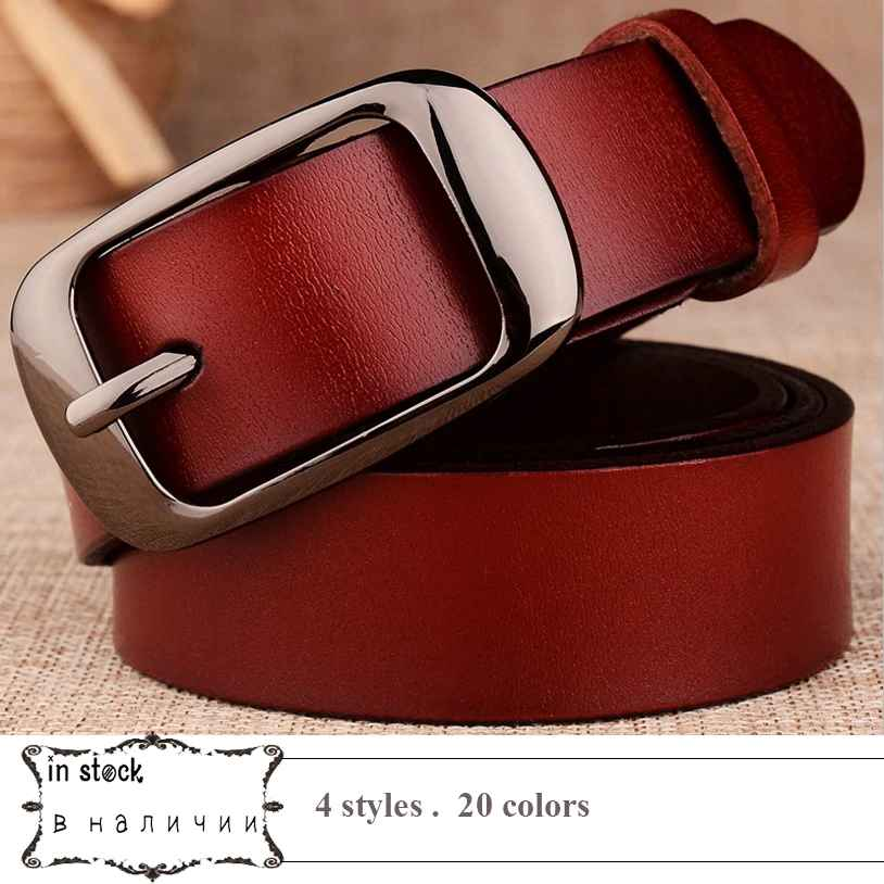 2019 Genuine Leather Buckle Belt Women Strap Female Pin Fashion