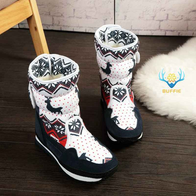 Women Winter Boots Lady Warm Shoes Snow Boot 30% Natural