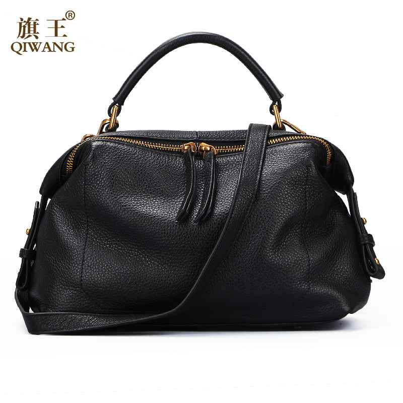 Qiwang Luxury Handbag For Women Shoulder Bags 100% Genuine Leather