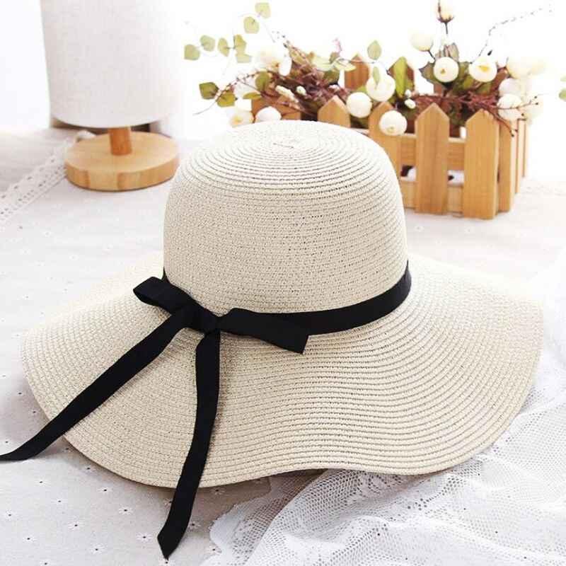 Summer Straw Hat Women Big Wide Brim Beach Hat Sun