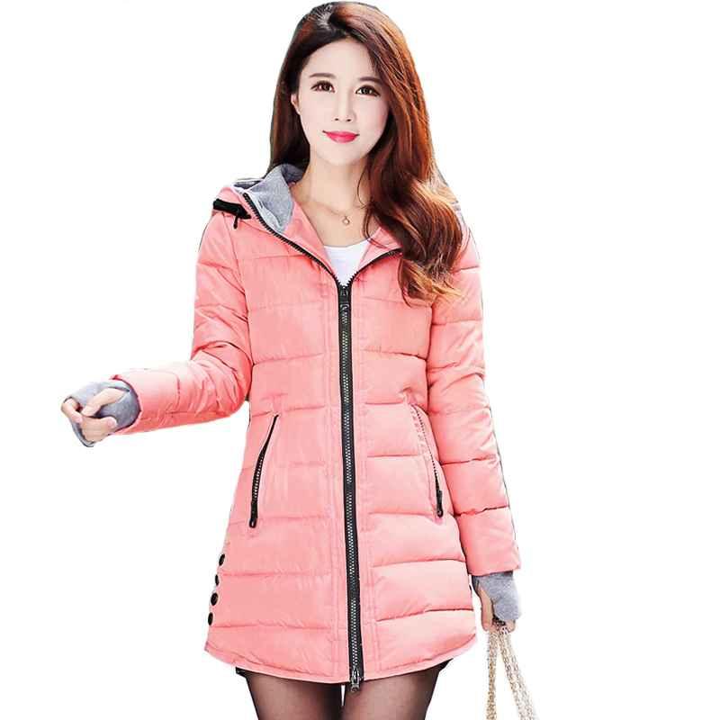 Coats 2019 women winter hooded warm coat plus size candy
