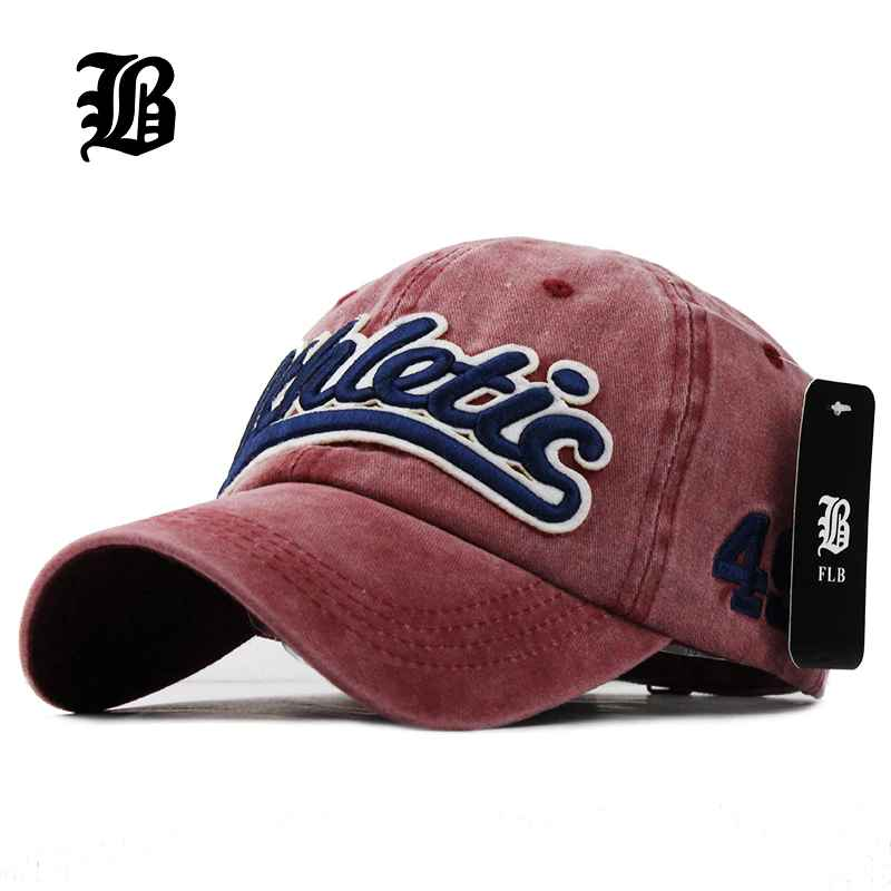 Flb 100% Washed Denim Baseball Cap Snapback Hats Autumn Summer