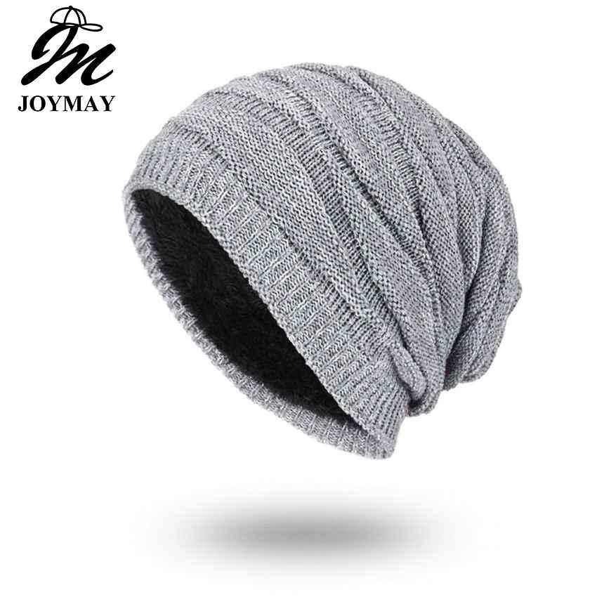 Joymay 2018 Winter Beanies Solid Color Hat Unisex Plain Warm