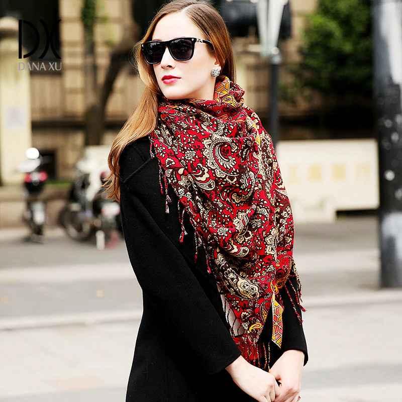 Wool Women Scarves Stoles Elegant Carf Warm Shawl Bandana Scarf