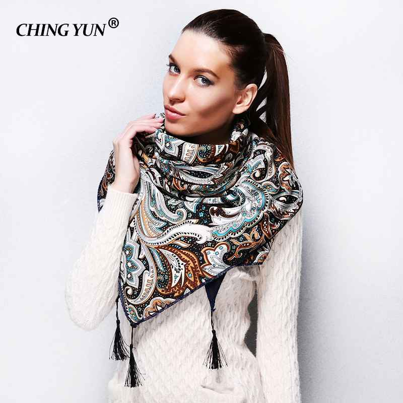 2018 New Style Fashion Russian Ethnic Pattern Winter Woman Scarf