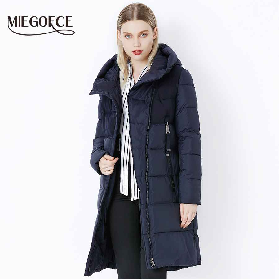 Miegofce 2019 Winter Women s Jacket Coat Windproof Warm Women Parkas
