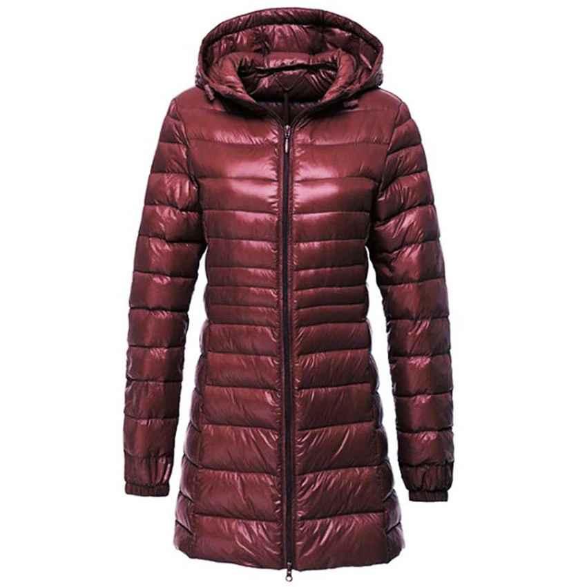 Coats women ultra light down jacket autumn winter warm white