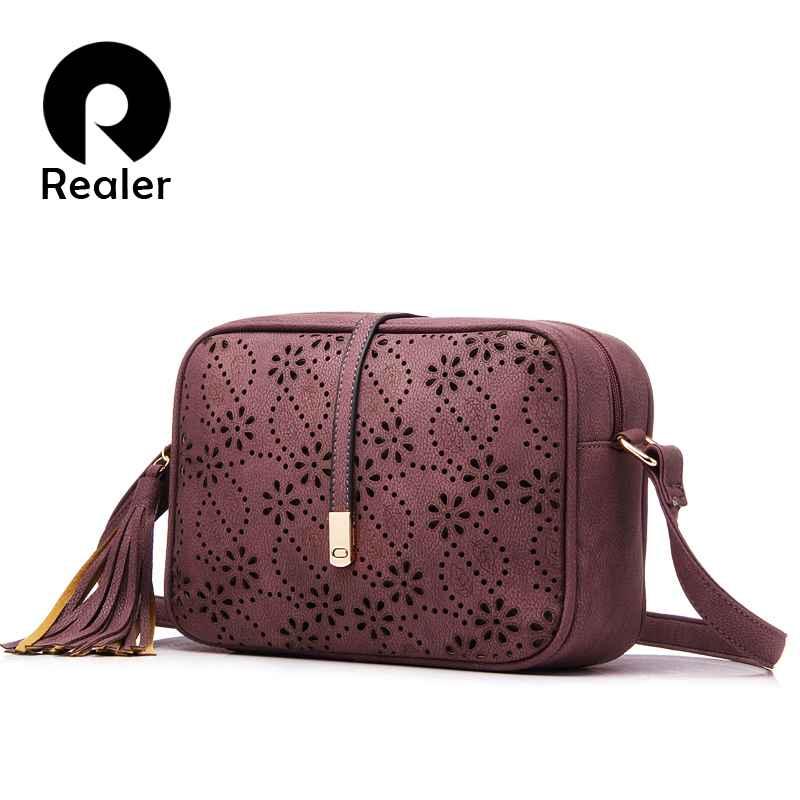 Brand New Messenger Bags Women Tassel Bag Floral Hollow Out