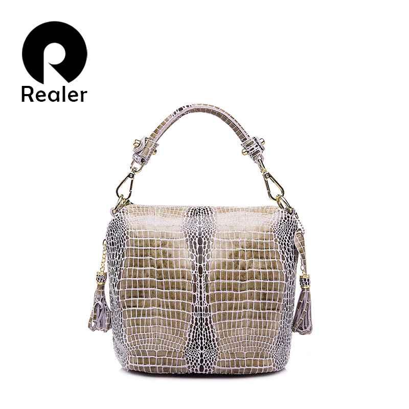 Genuine Leather Handbags Women Small Totes Shoulder Crossbody Bags Ladies