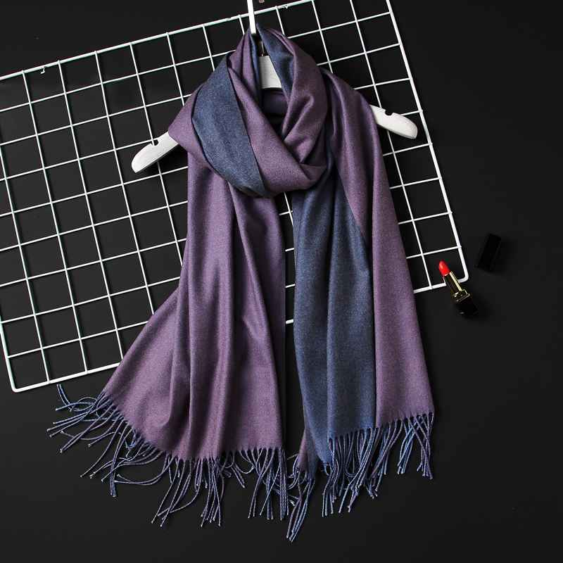 2019 Winter Women Scarf Fashion Solid Soft Cashmere Scarves For
