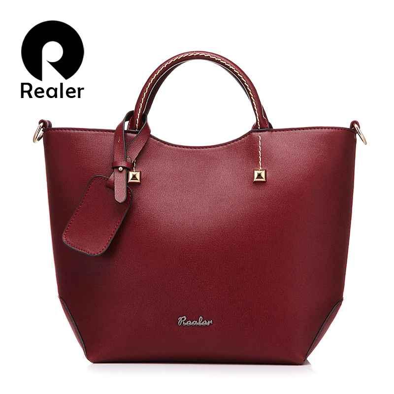 Handbag Women Large Bucket Shoulder Crossbody Bag Female Artificial Leather