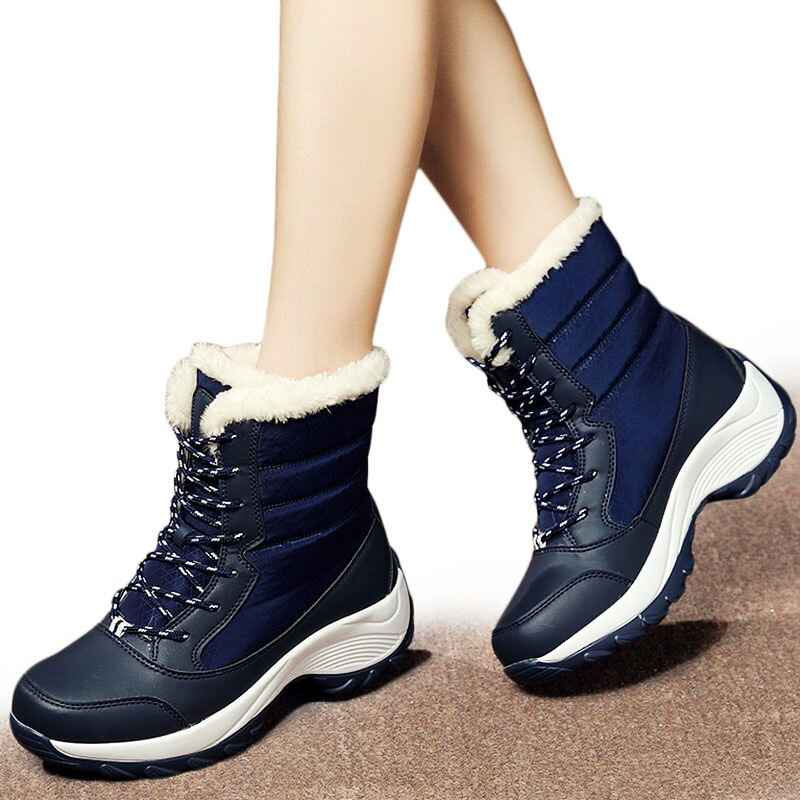 Women Boots Keep Warm Women Shoes Winter Warm Fur Snow