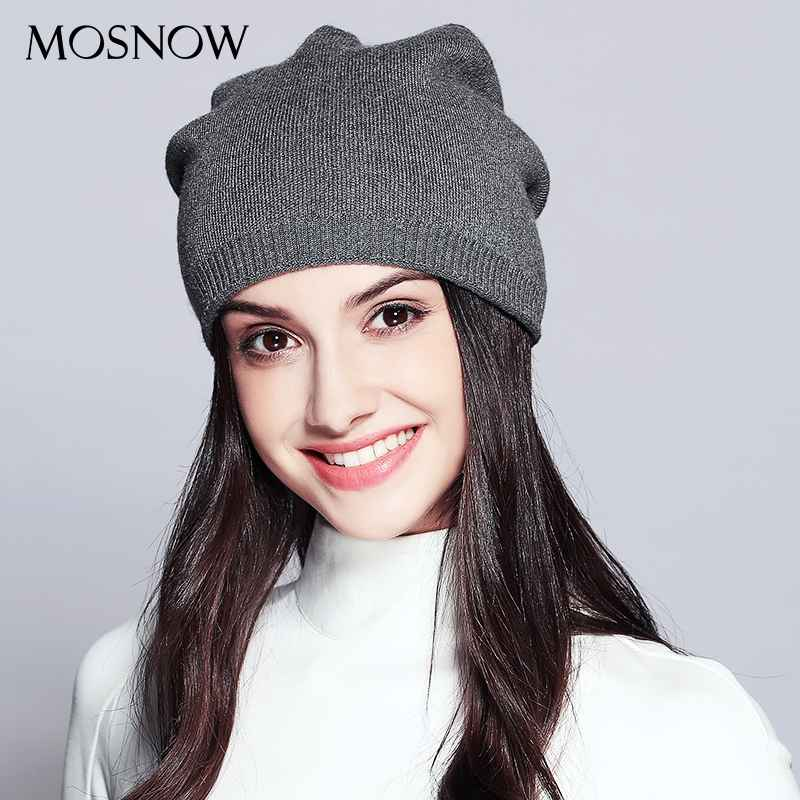 Women s Hats Knitted Wool Autumn Winter Casual High Quality Brand