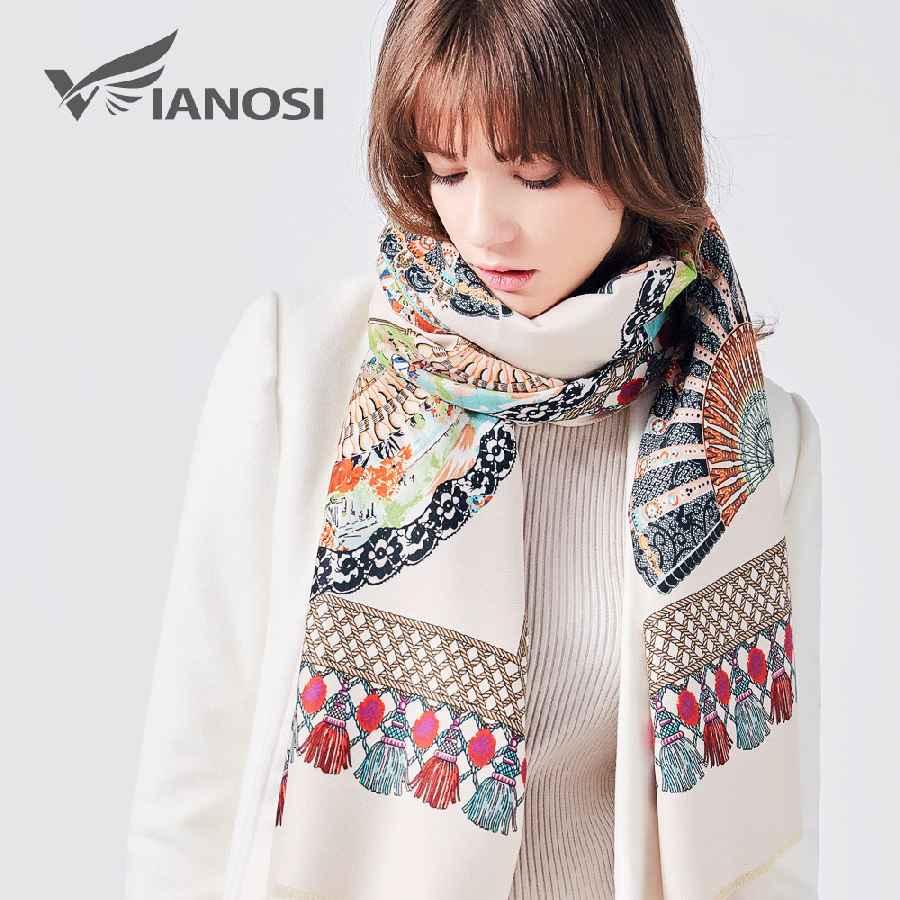 Fashion Winter Scarf Women Female Wool Printing Shawl Top Quality