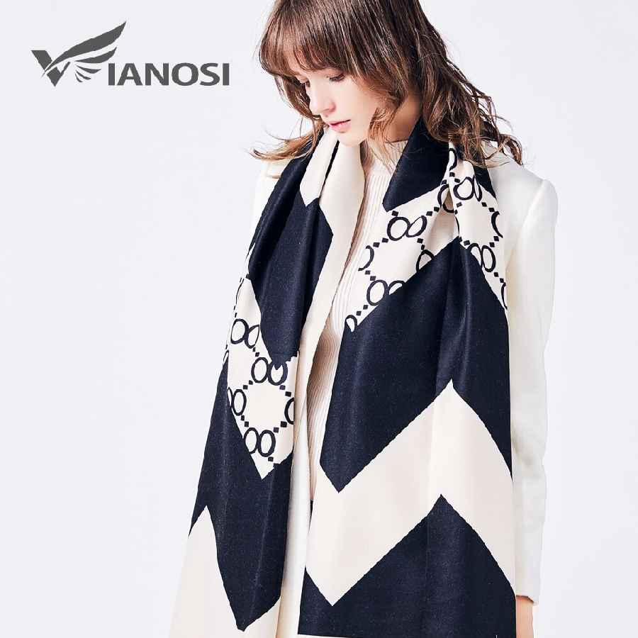 Luxury Scarf Women Wool Cape Cashmere Shawls And Scarves Thicken