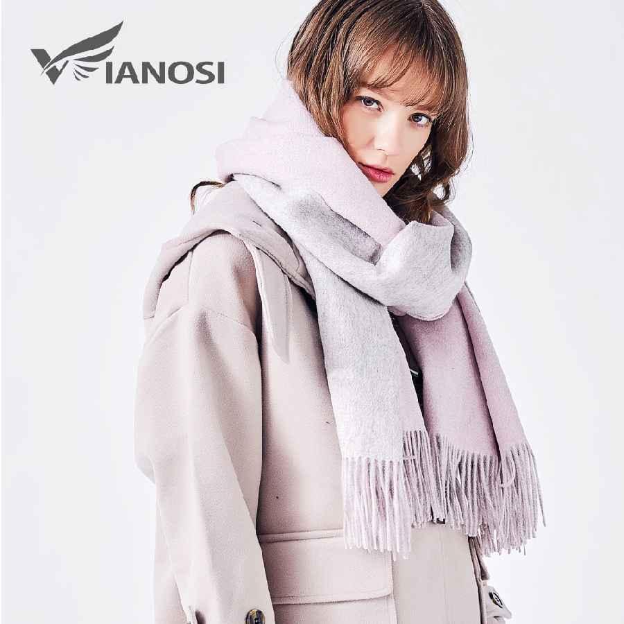 100% Wool Scarf Women Winter Shawl Thick Warm Scarves Women
